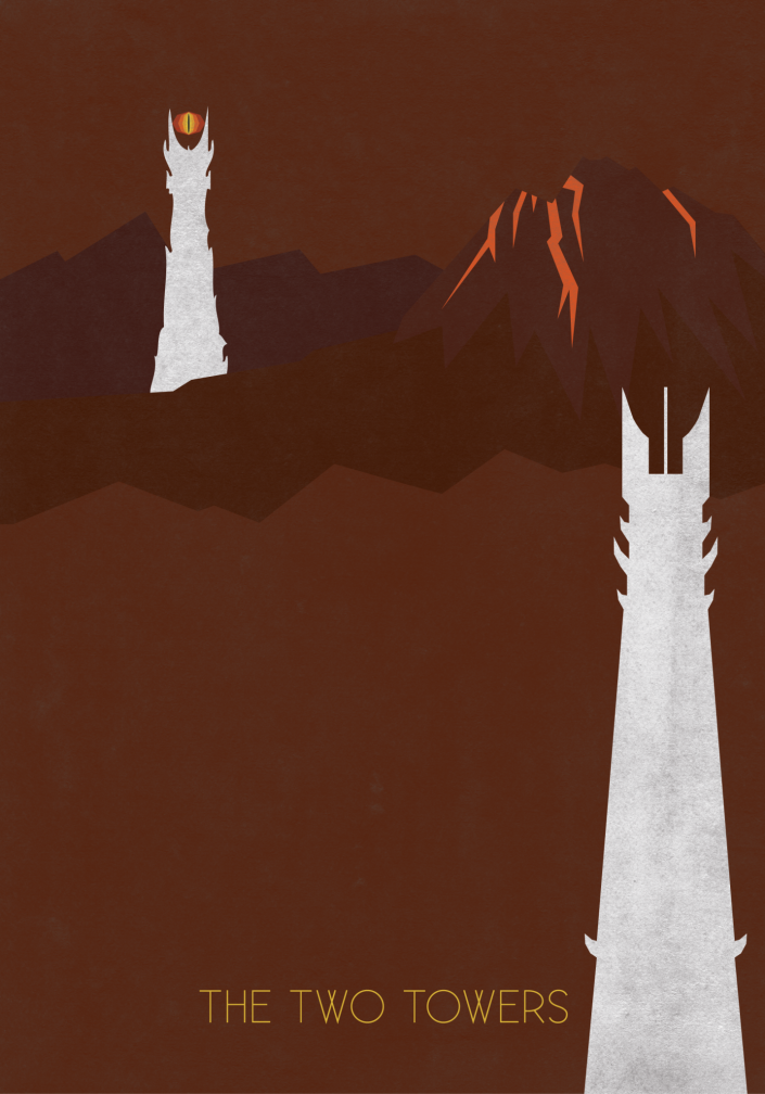 Plakat - Lord of the Rings - The Two Towers